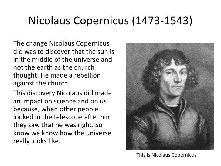 What did Copernicus discover?