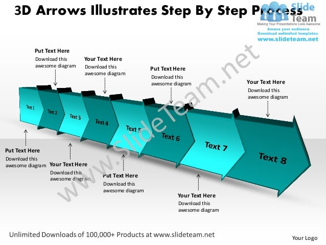 Timeline project planning 3d arrows illustrates 8 stages power point 3d arrows illustrates step by step process put text here download this toneelgroepblik Gallery