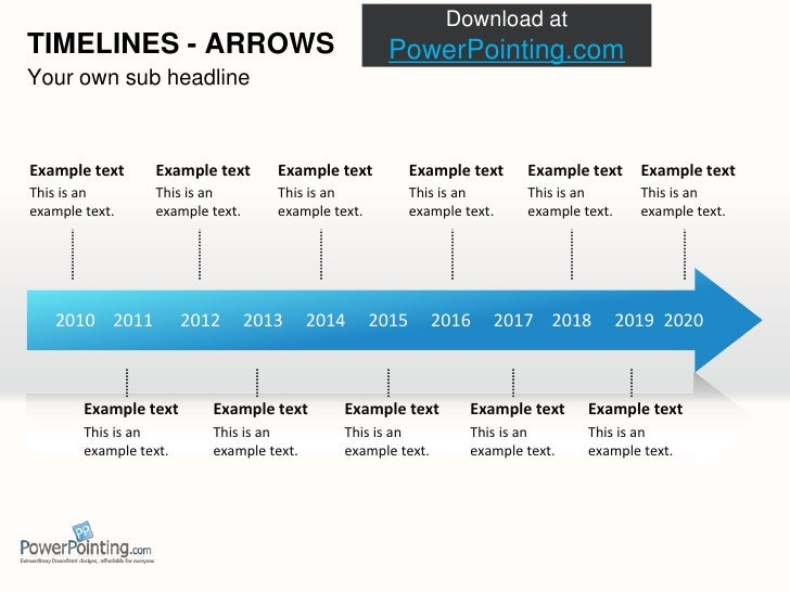 powerpoint 2010 timeline template