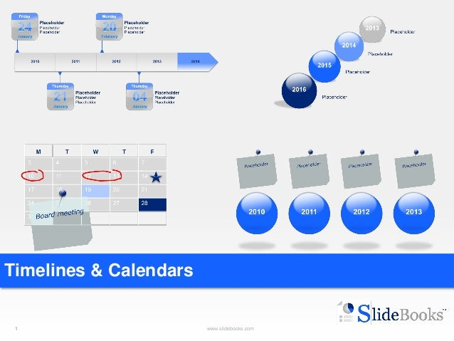 Timelines & Calendars In Powerpoint