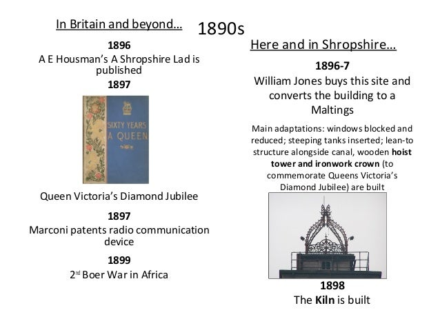 1900s In Britain and beyond… 1901 1908 Old Age Pensions are introduced Here and in Shropshire… 1900 Coleham pumping statio...