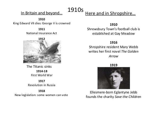 1920s In Britain and beyond… 1924 First Labour Prime Minister: Ramsay Macdonald 1927 The BBC is created 1928 Women over 21...