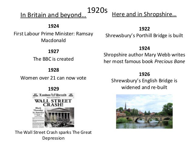 1930sIn Britain and beyond… 1936 The Jarrow March against poverty and unemployment 1936 1939 Second World War starts Here ...