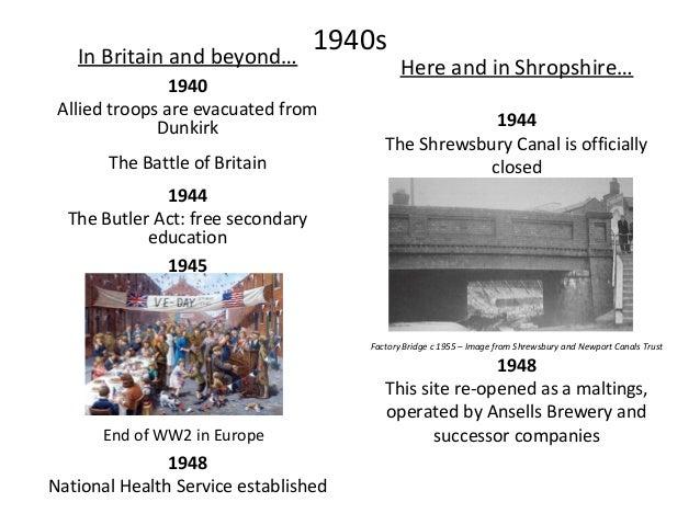 1950s In Britain and beyond… 1952 Queen Elizabeth II succeeds George VI 1958 First motorway in Britain opens 1959 Here and...