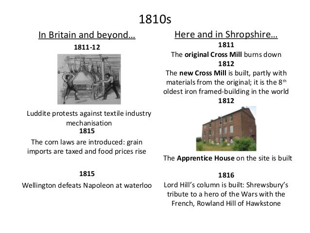 1820s In Britain and beyond… 1820 King George III dies; George IV is crowned 1825 Here and in Shropshire… 1829 1820s New t...