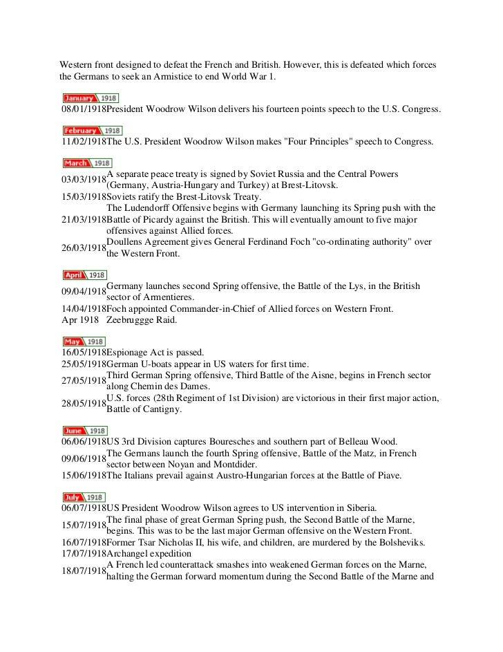Timeline (ww i)
