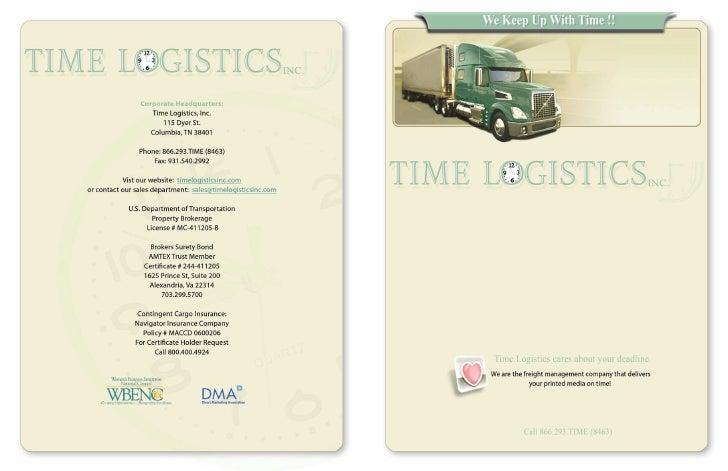 Time Logistics Brochure