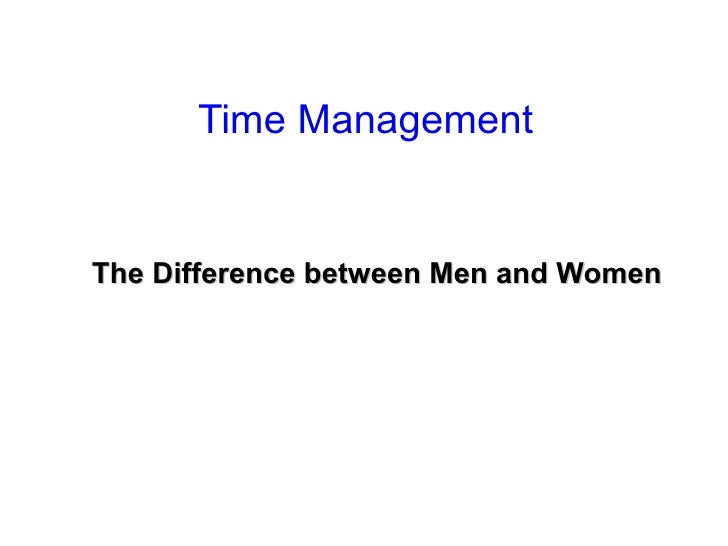 Time Management   The Difference between Men and Women