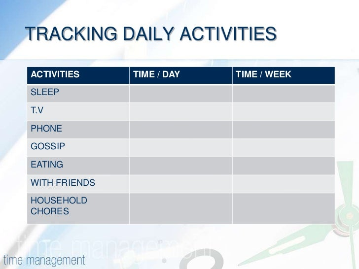 track daily activities