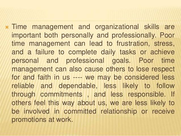 poor time management essay