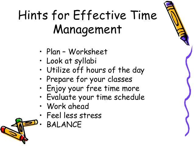 Time management – Time Management Worksheet