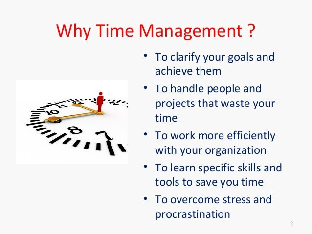 time management skills example
