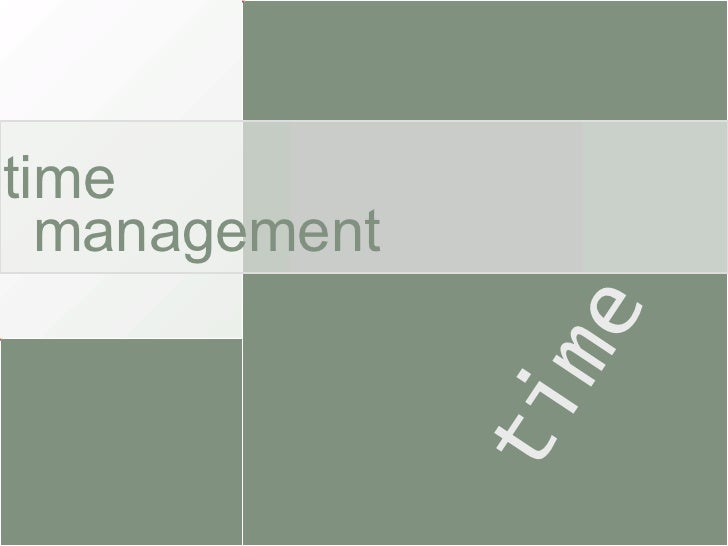 time time management