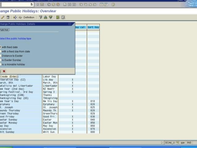 Define Indicators for the Personal Calendar
