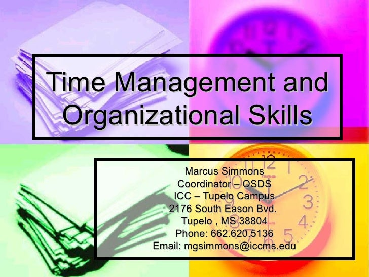 time management and organizational skills - Sample Resume With Organizational Skills