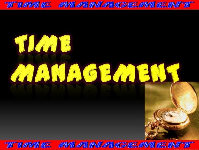 You can't manage time!!! Manage your own self…
