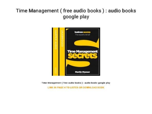 Time Management ( free audio books ) : audio books google play