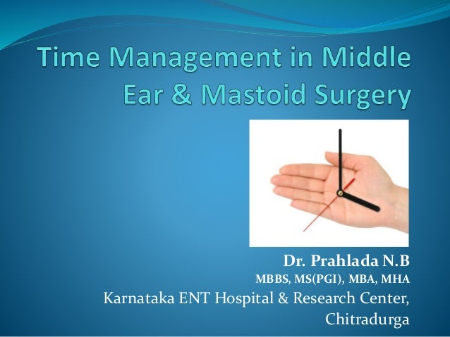 Dr. Prahlada N.B MBBS, MS(PGI), MBA, MHA Karnataka ENT Hospital & Research Center, Chitradurga