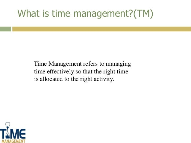 introduction to time management pdf