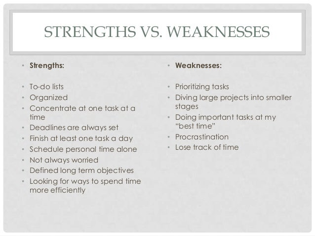 the strengths and weaknesses in the management of rosemont center