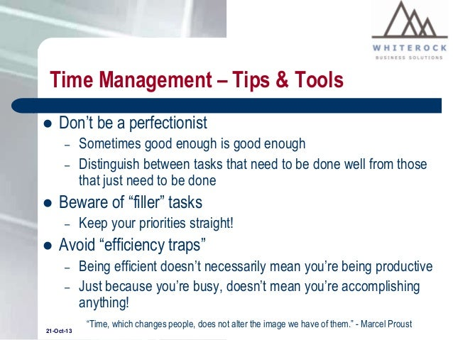 What are some good time management strategies?