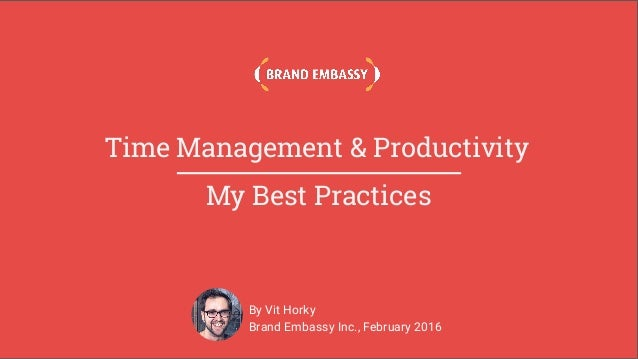 Time management productivity best practices for Consul best practices