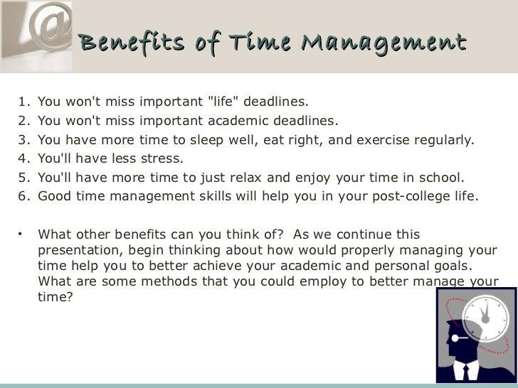 Essay time management