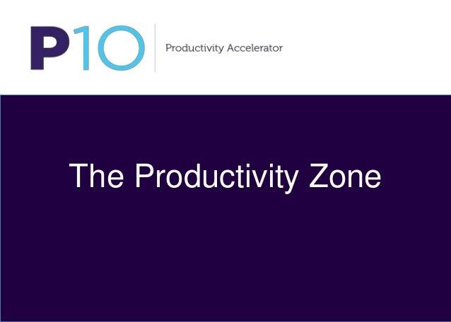 The Productivity Zone The Productivity Zone
