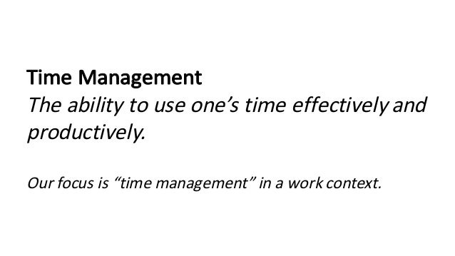 how to teach time management