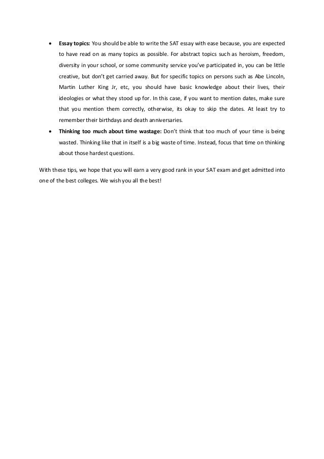 sat essay topics