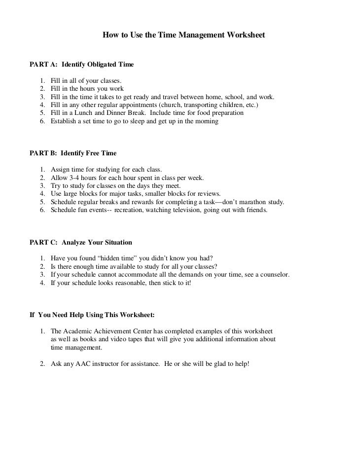 Time management worksheets 2 how to use the time management ibookread PDF