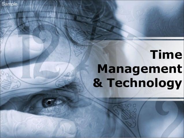 Time Management & Technology Sample