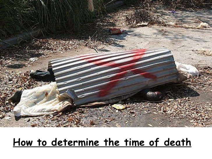 How to determine the time of death