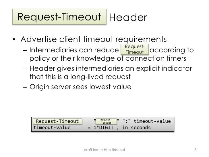 HTTP Request-Timeout
