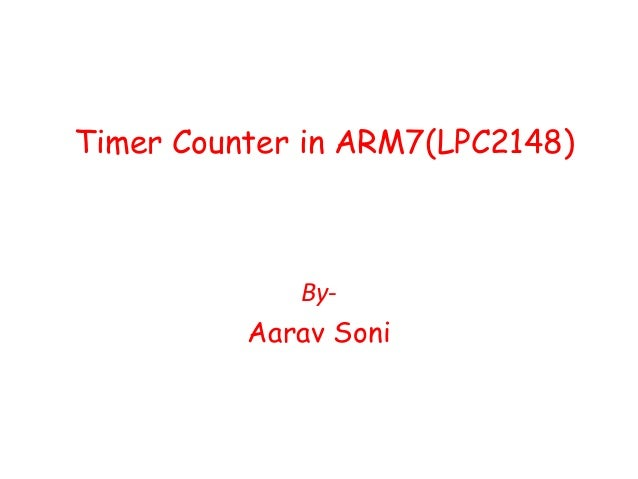 Timer counter in arm7(lpc2148)