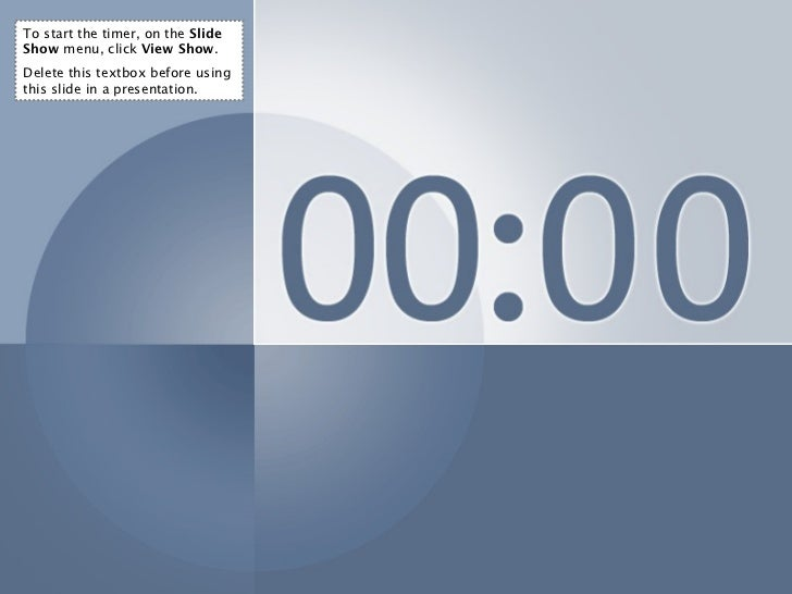 Timer for slideshow powerpoint