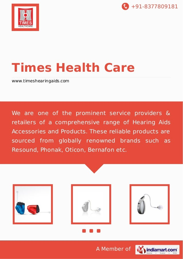 +91-8377809181  Times Health Care www.timeshearingaids.com  We are one of the prominent service providers & retailers of a...