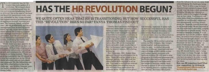Times Ascent -  Has the HR revolution begun