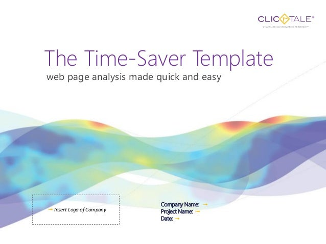 The Time-Saver Templateweb page analysis made quick and easy                           Company Name: ➟➟ Insert Logo of Com...