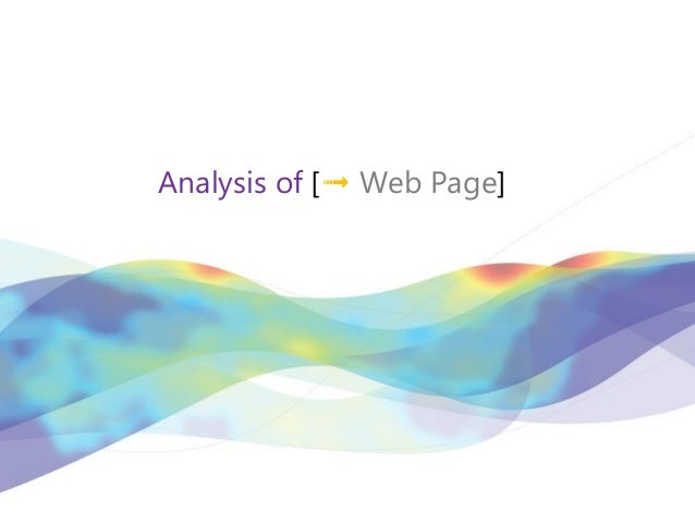 Analysis of [➟ Web Page]