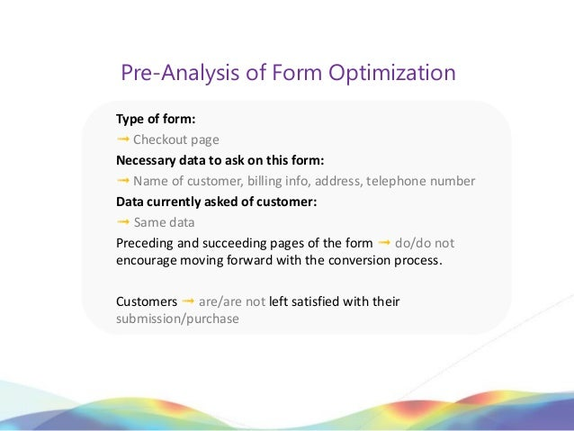 Pre-Analysis of Form OptimizationType of form:➟ Checkout pageNecessary data to ask on this form:➟ Name of customer, billin...