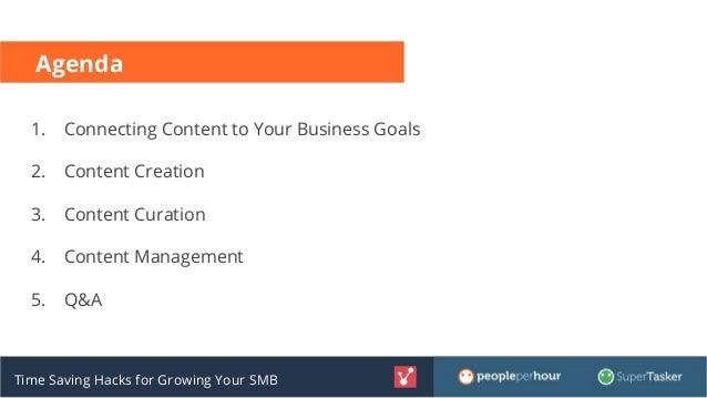 Time Saving Hacks for Growing Your Small Business Slide 2