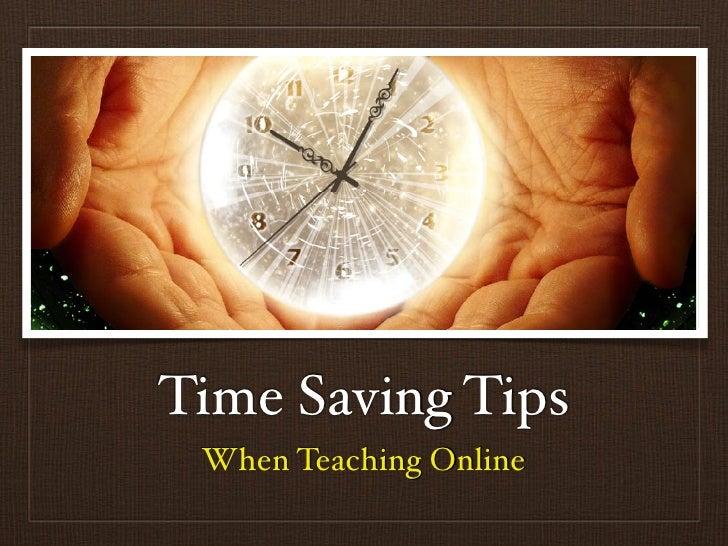 Time Saving Tips When Teaching Online