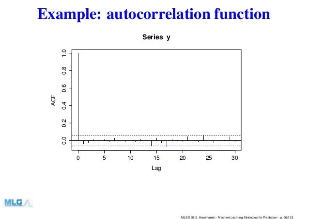 machine learning time series prediction