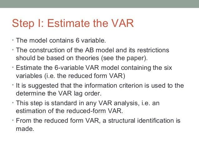 Structural VAR: the AB model