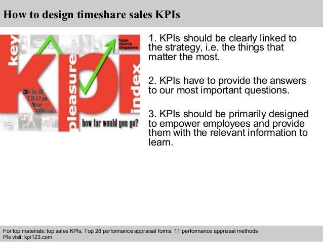 timeshare sales kpi