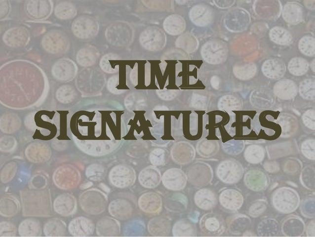 TimeSignatures