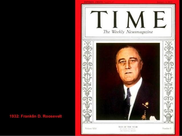 1934: President Franklin D.  Roosevelt