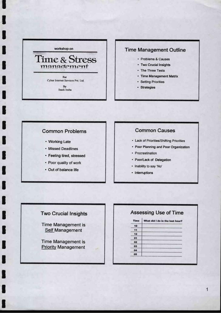 Time & stress management