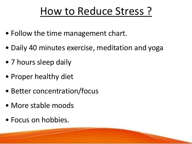 Time  Stress Management Presentation